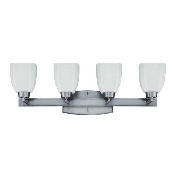 Craftmade Bridwell 4-Light Vanity Fixture in Brushed Nickel
