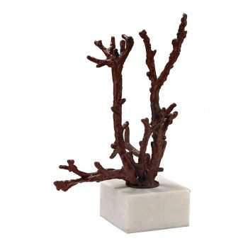 ELK Home Staghorn Coral Sculpture in Red