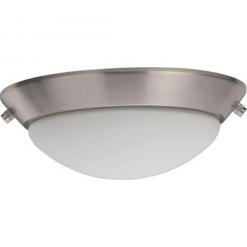 """Quorum Kit 10"""" 2-Light Ceiling Fan Light Kit in Satin Nickel"""
