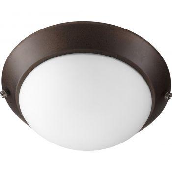 """Quorum Kit 10"""" 2-Light Ceiling Fan Light Kit in Oiled Bronze"""