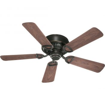 "Quorum Medallion Patio 42"" 5-Blade Patio Fan in Old World"