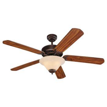 """Sea Gull Lighting Quality Pro 52"""" Ceiling Fan in Roman Bronze"""