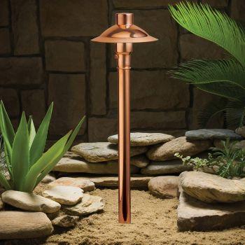"""Kichler Copper 21.5"""" 12V Path & Spread in Copper"""