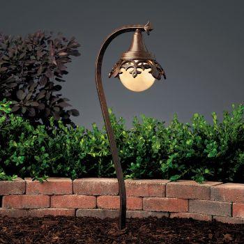 "Kichler Vintage Park 26.5"" 12V Path & Spread in Textured Tannery Bronze"