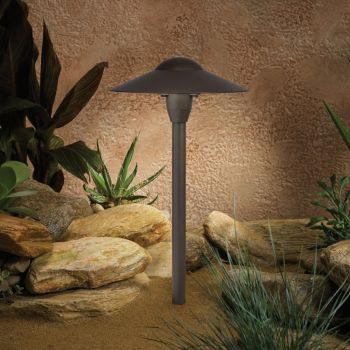 "Kichler Landscape 15"" 12V Path & Spread in Textured Architectural Bronze"