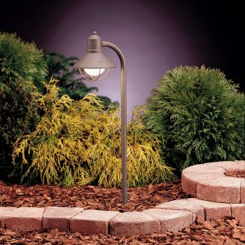 "Kichler Seaside Marine 25.25"" Path & Spread Landscape Light in Olde Brick"