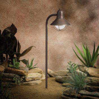 "Kichler Seaside Marine 25.5"" Path & Spread Landscape Light in Olde Bronze"
