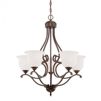 Millennium Lighting Courtney Lakes 5-Light Chandelier in Rubbed Bronze