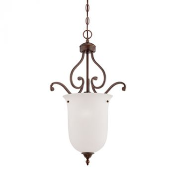 Millennium Lighting Courtney Lakes 1-Light Pendant in Rubbed Bronze
