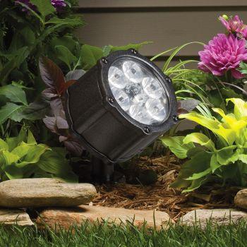 Kichler Landscape 6-Light 10 Deg LED Accent in Textured Black