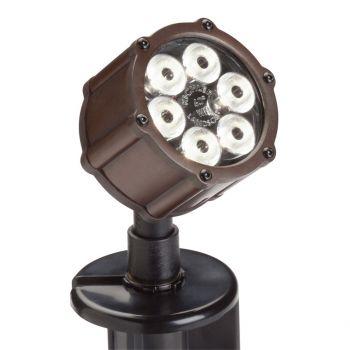 Kichler Landscape 6-Light 60 Deg LED Accent in Bronzed Brass