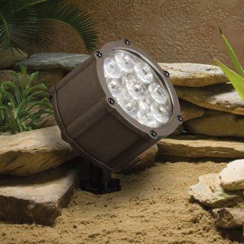 Kichler Landscape 9-Light 10 Deg LED Accent in Architectural Bronze