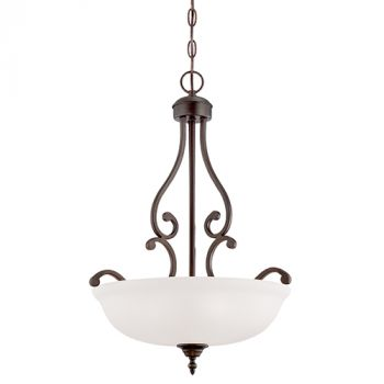Millennium Lighting Courtney Lakes 3-Light Pendant in Rubbed Bronze