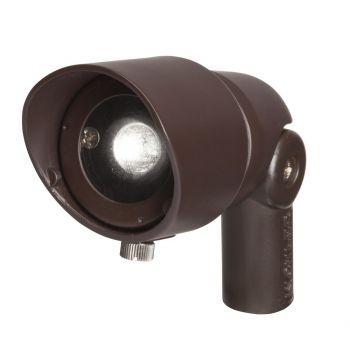 Kichler Landscape 3000K 35 Deg 3W LED Flood Light in Bronzed Brass