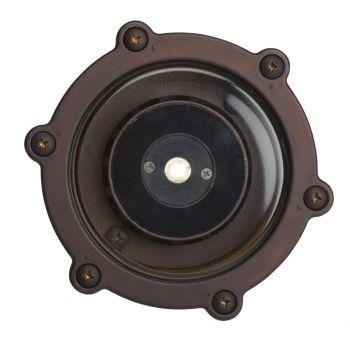 Kichler Landscape 2700K 10 Deg 4W LED Inground Well in Bronzed Brass