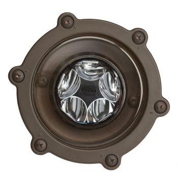 Kichler Landscape 2700K 10 Deg 6.5W LED Inground Well in Bronzed Brass