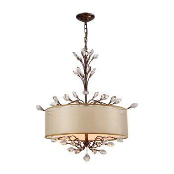"""Elk Lighting Asbury 26"""" 4-Light Chandelier in Spanish Bronze"""