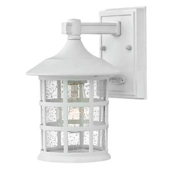 "Hinkley Freeport Outdoor 9.25"" Wall Mount Light in Classic White"