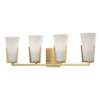 Hudson Valley Upton 4-Light Bath Vanity in Aged Brass