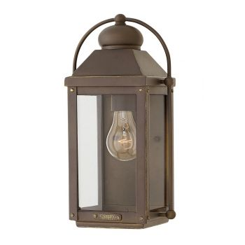 Hinkley Anchorage 1-Light Outdoor Small Wall Sconce in Light Oiled Bronze