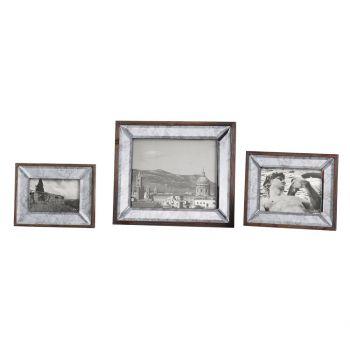 "Uttermost Daria 13.5"" Photo Frames in Antique Bevel (Set of 3)"