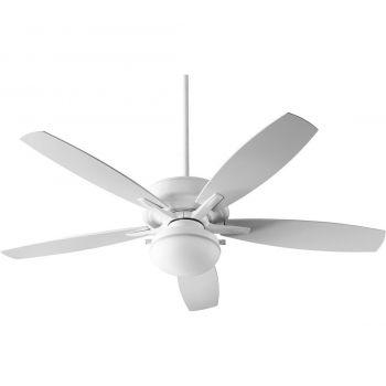 """Quorum Eden 60"""" 2-Light Indoor/Outdoor Fan in White"""