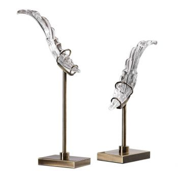 """Uttermost Wings 22.5"""" Wings Sculpture in Brushed Coffee Bronze (Set of 2)"""