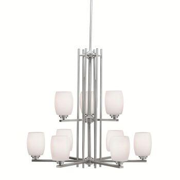 Kichler Eileen 9-Light LED Chandelier in Brushed Nickel