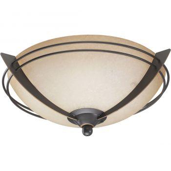 """Quorum Kit 14"""" 2-Light Ceiling Fan Light Kit in Old World"""