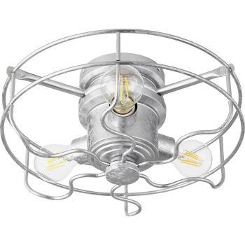 "Quorum International Windmill 3-Light 14"" Indoor/Outdoor Ceiling Fan in Galvanized"