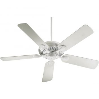 "Quorum Pinnacle Patio 52"" 5-Blade Patio Fan in Studio White"