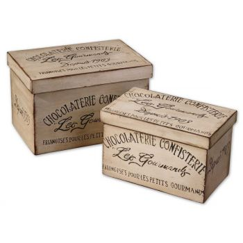 Uttermost Chocolaterie, Boxes, Set/2