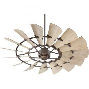"""Quorum International Windmill 60"""" Indoor/Outdoor Ceiling Fan in Oiled Bronze"""