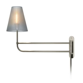 "Sonneman Bistro 8"" Swing Arm Wall Lamp - in Nickel Finish"