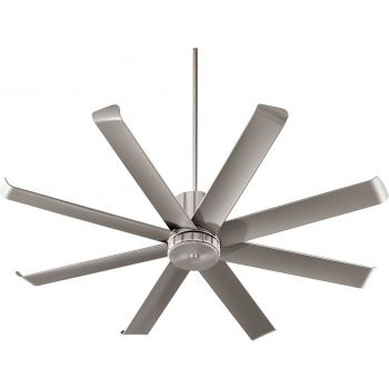 "Quorum Proxima Patio 60"" 8-Blade Patio Fan in Satin Nickel"