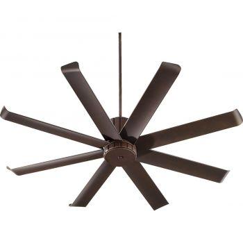 "Quorum International Proxima Patio 60"" Outdoor Ceiling Fan in Oiled Bronze"