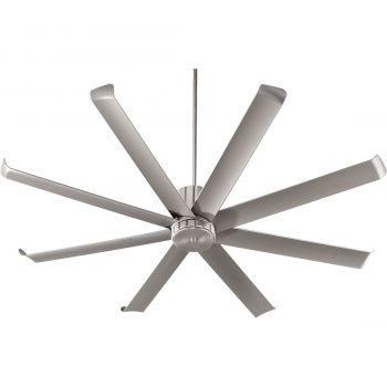 "Quorum Proxima Patio 72"" 8-Blade Patio Fan in Satin Nickel"
