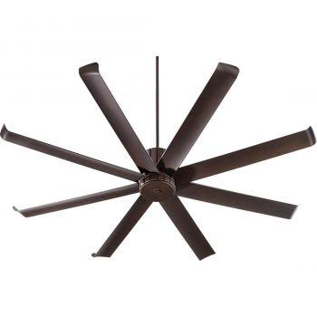 "Quorum Proxima Patio 72"" 8-Blade Patio Fan in Oiled Bronze"
