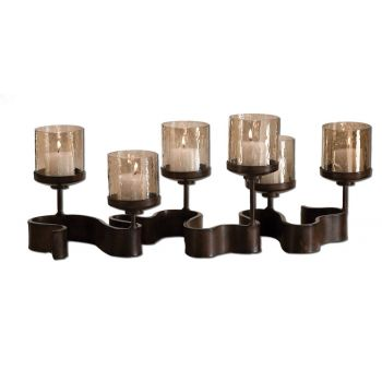 Uttermost Ribbon Metal Candleholder