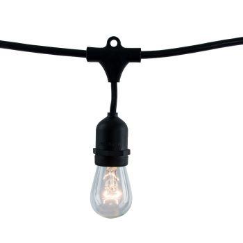 Bulbrite Fixtures String Light Kit in Black with Medium Blacks