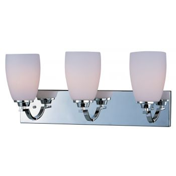 Maxim Lighting Rocco 3-Light Bath Vanity in Polished Chrome