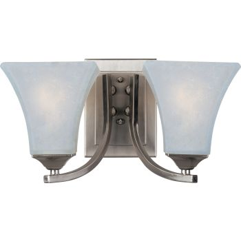 Maxim Lighting Aurora 2-Light Bath Vanity in Satin Nickel