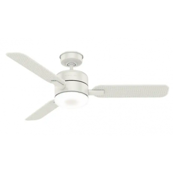 "Casablanca  54"" 1-Light Indoor/Outdoor Ceiling Fan in Fresh White"