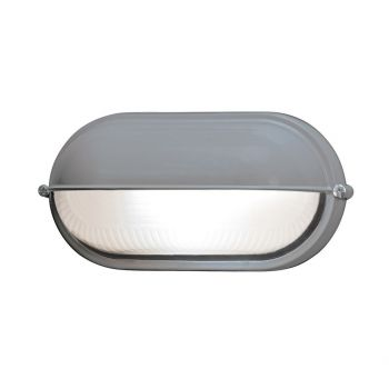 """Access Lighting Nauticus 8.25"""" Outdoor Frosted Bulkhead in Satin"""