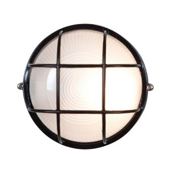 """Access Lighting Nauticus LED Outdoor 7"""" Wall Sconce in Black"""