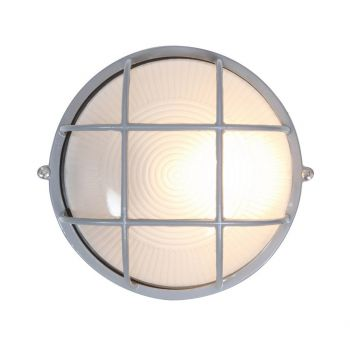 """Access Lighting Nauticus Outdoor 7"""" Frosted Glass Bulkhead in Satin"""