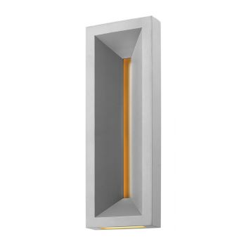 Hinkley Plaza 1-Light LED Outdoor Large Wall Mount in Titanium