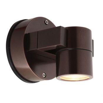 "Access Lighting KO 4"" LED Outdoor Wall Spotlight in Bronze"