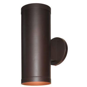 "Access Poseidon 12.25"" Outdoor 2-Light Clr Wallwasher in Bronze"