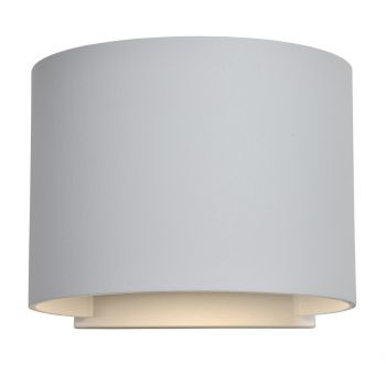 """Access Curve 2-Light 5"""" Outdoor Wall Light in White"""